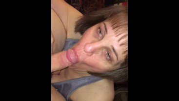 Cougar that loves sucking cock dry