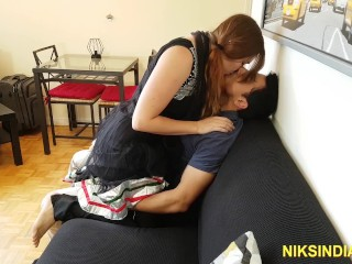 Indian guy fucks in her ass and she...