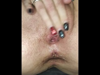 Finger fucking with two squirting orgasms!