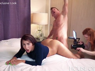 19 year old Valentina Jewels fucks my cock with her Giant ASS on set