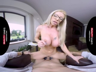 Naughty MILF teacher in VR porn