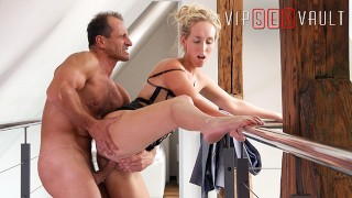 VIPSEXVAULT - Sexy Tall Blonde MILF Fucks Pervert Pretending To Sell House