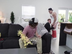 GAYWIRE - Step Dad Johnny V's Threesome With Axel Kane & London Matthews
