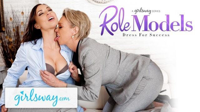 Older mature lesbians porn - Girlsway mature lesbian gifts aidra fox a power suit feels her up