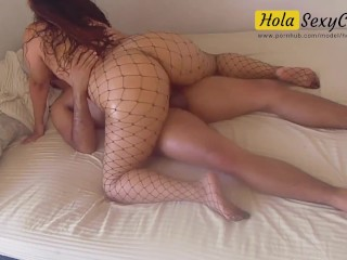 Thick ass latina milf on black tights fucking...