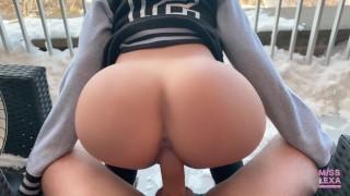 Pornhub Model gets fucked outdoors in public - 4K