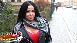 GERMAN SCOUT - HUGE TITS MILF KATIE TALK TO FUCK AT REAL STREET CASTING