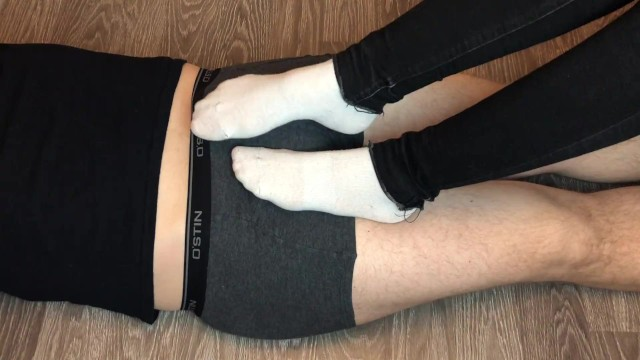 Teen kelly cock - Teen white socks socksjob underpants, socks footjob foot fetish feet