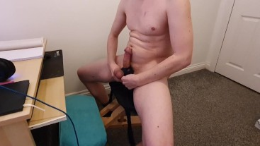 Tying My Hard Cock and Balls for an Intense Wank - TiedToCum