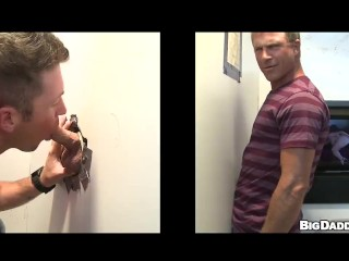 Unglory hole troy halston gets blowjob from tanner...