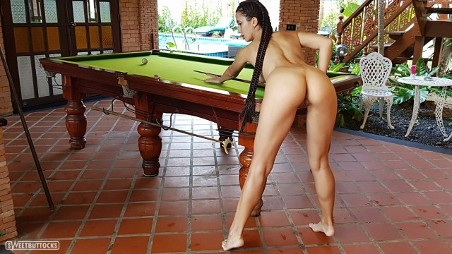 Nude billiards girls - Naked beauty plays billiards