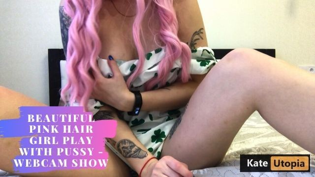 Beautiful Pink Hair Girl Play With Pussy - Webcam Show