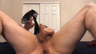 Jerk Off 2 Cum & Making BF Eat Cum Off My Sock POV