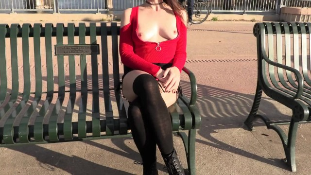 Cuts shirt off with sword breast Teaser - breasts publicly exposed in a deep cut shirt