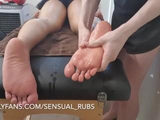Japanese with feet rubs...