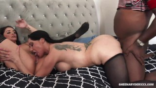 Sheena Ryder and Mahina Zaltana Creampied by Black Dick