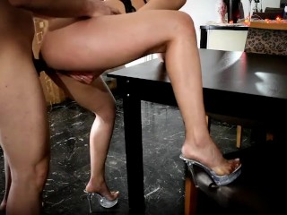 Greek escort girl fucked table...