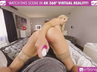 VR BANGERS Provocative Blonde Wife Brandi Love Playing With Dildo