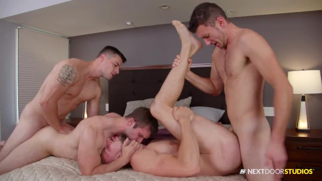 Naked gay group sex - Naked car wash ends in group sex foursome