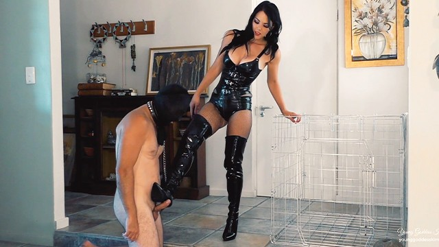 Feynman diagram latex - Latex goddess uses caged boot bitch - femdom worship - young goddess kim