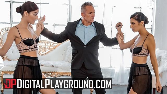 Ballet dancer escorts - Digital playground - two petite dancer share in threesome