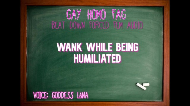 Gay television journalist Wank while being humiliated gay homo fag audio