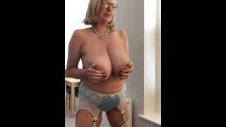 Annabel's new satin bra and panties