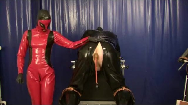 Fuck man mistress slave strap - Punishment the rubber slave anal treatment with plugs strap on latex femdom