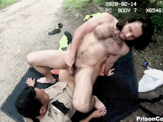 Inmates pick up trash get dicked ass...