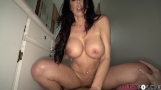 Hot Mom is More than Willing To Help StepSon with Big His Dick