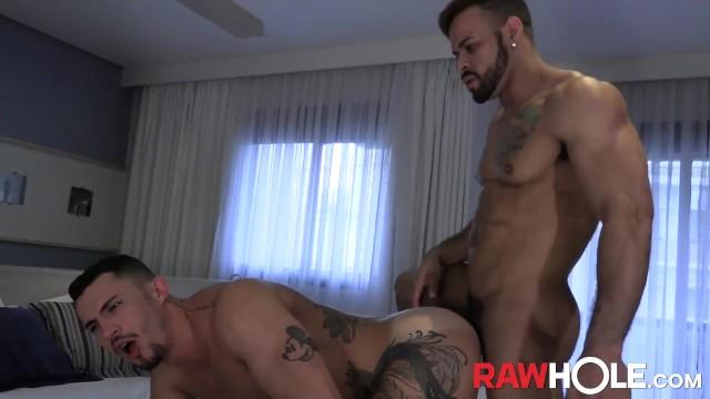 Braziliian gay ameteur porn - Rawhole brazilian hunk douglas feraz destroys inked hole raw