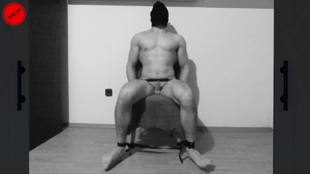 Vintage aluminum web lawn chair - Torture chair - prisoner restrained - fucking machine - 17 prostate orgasms