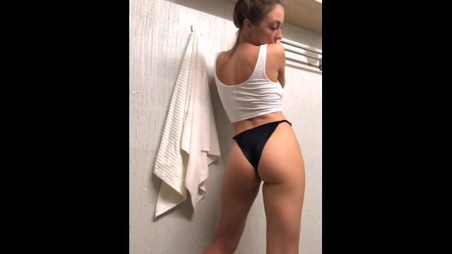 Horny in bathroom 18