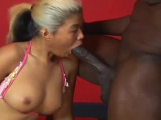 Old Asiatic Suck Big Black Cock