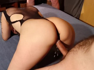 Rented sub slut get huge creampie in gangbang HD