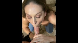 Cherie DeVille Fucks Door to Door for Toilet Paper Corona Virus shortage