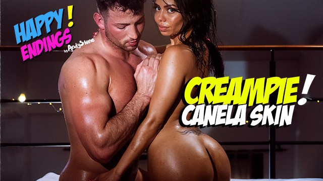 Skin nudes - Creampied canela skin enjoys a hot happy ending massage