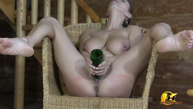 St Patrick's Day Big boobs MILF ride on Green Bottle 3