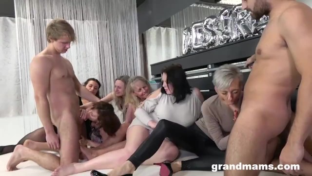 Free naked granny video - Insane granny orgy will make your cock hard af