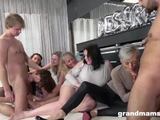 Insane granny orgy will make your cock hard...