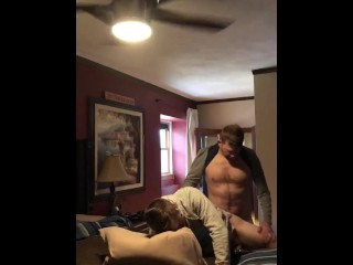 Straight married dude anon cums inside me