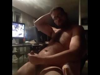 Bear watching porn...