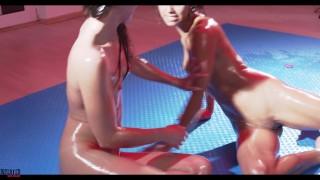 Amirah Adara vs Veronica Leal – Super Hot Oil Lesbian Sexfight – Fingering