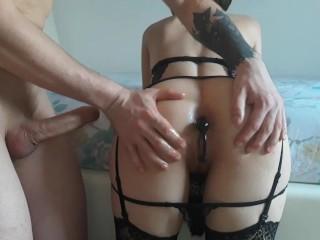 Iliketobeaslut anal balls for my slutty...