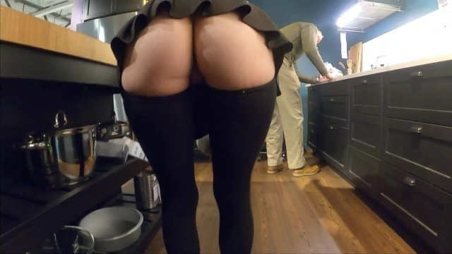 Teens in mine skirts - Teaser - ass popping out of my mini skirt - store flashing