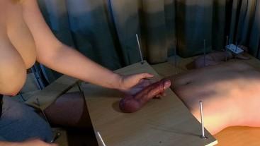 Amateur Feet Tickling.Tease Handjob and Ruined Orgasm Post Orgasm Torture