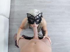 Tiny Cat Girl Vs. Huge Cock