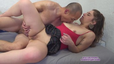Ball busting and Sex with Step-dad