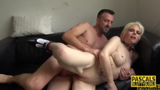 Mature submissive gets fucked and squirts