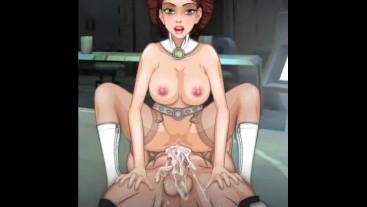 Star Wars Slut is taking a huge cock